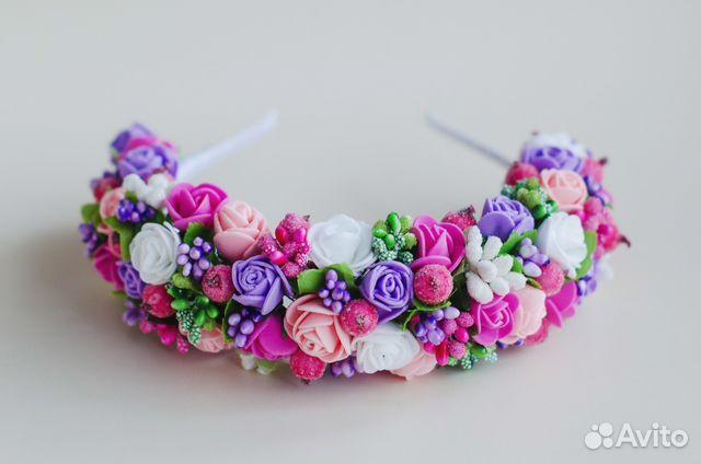 Цветы на ободок из