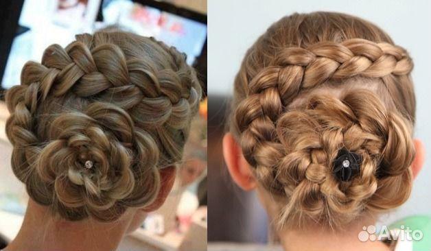 Видео плетение кос на волосы средней длины