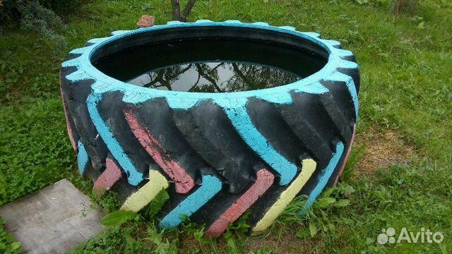 Бассейн из колеса