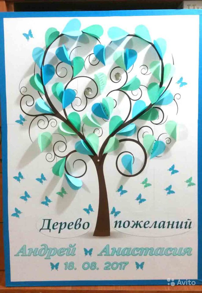 Дерево поздравлений для учителя