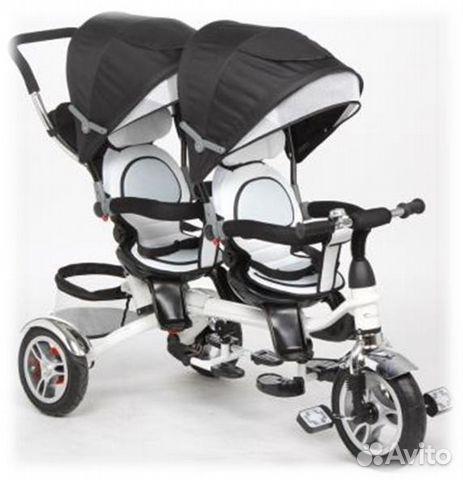 Велосипед для двойни мод. twin trike 360, графит купить в GB46