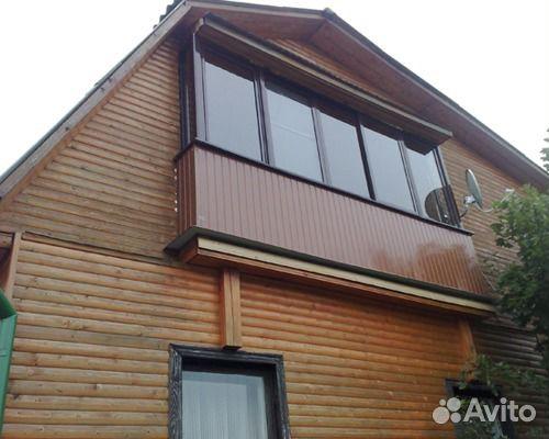 Лоджии в частном деревянном доме фото. - двери балконные - к.