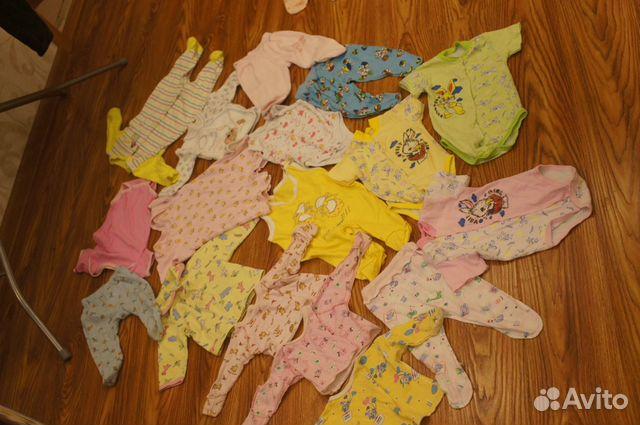 Пакет одежды на девочку с 0 до 6 месяцев 17 вещей