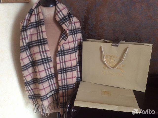 Новый шарф Burberry оригинал купить в Москве на Avito — Объявления ... bac90dfd7b1