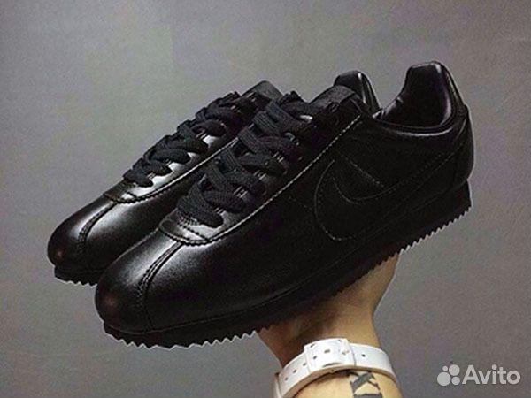 Кроссовки Nike Cortez мужские черные кожаные 89eca8ca598
