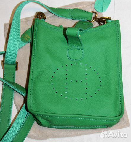 9efccd51c830 Стильная женская кожаная сумка планшет -H- green купить в Москве на ...