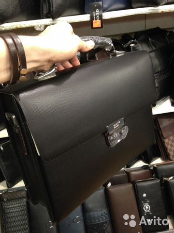 43afeb120cd1 Мужской кожаный портфель, чемодан Mont Blanc 01 купить в Москве на ...