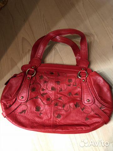 924c6acec16b Красная кожаная сумка Bonetti купить в Москве на Avito — Объявления ...