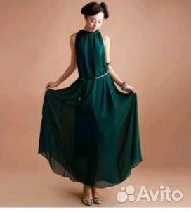 1e28698cd78 Темно-зеленое платье