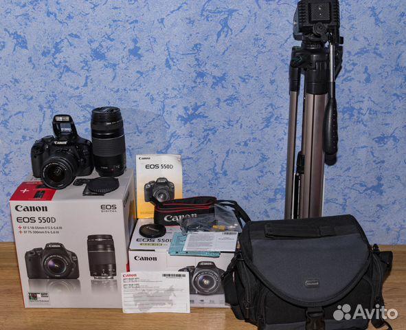 e4632b1588fa Зеркалка Canon 550D+штатив+карта 32Гб+сумка купить в Тульской ...
