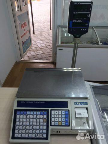 Весы торговые CAS LP-15R (VS1.6) с печатью этикето 89081405396 купить 1