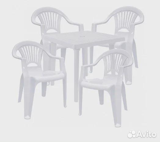 Стол стул пластик белый  89788289238 купить 1