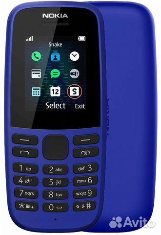Nokia 105 Blue (без сзу) 89604040021 купить 1