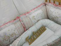 Комплект в кроватку. Бортики на заказ. 500 расцвет