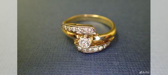 Золотое кольцо с бриллиантами 0.40 карат купить в Москве на Avito —  Объявления на сайте Авито 1578b0a000d