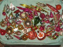 Елочные игрушки. Ассорти. 55 шт. СССР