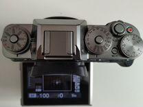 Fujifilm X-T1 body silver graphite + батблок