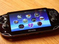 Прошитая Sony PS Vita + карта на 16гб + чехол