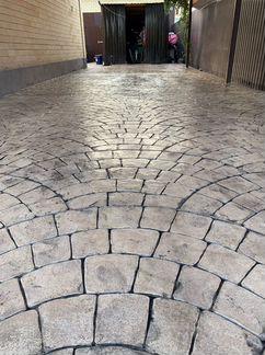 печатный бетон формы купить леруа мерлен