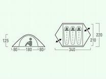 Палатка 3х местная Outventure Teslin 3