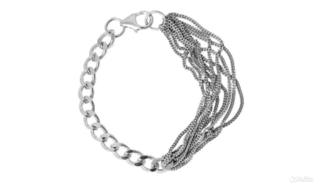 Браслет серебряный 925 родированый красцветмед  89130467467 купить 6