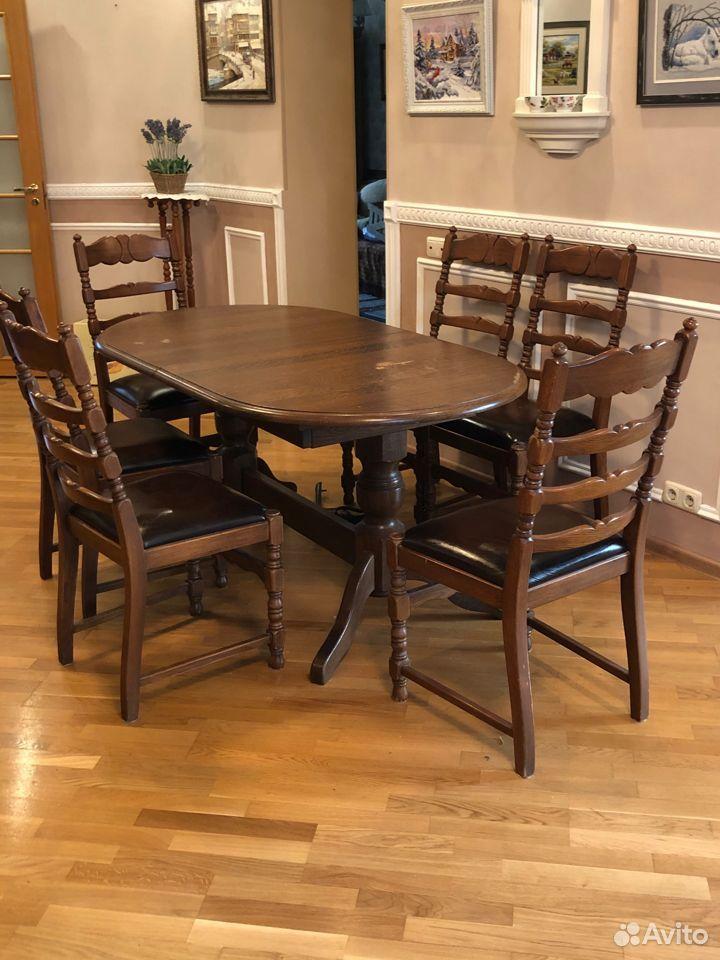 Стол и 6 стульев, Бельгия  89122476125 купить 2