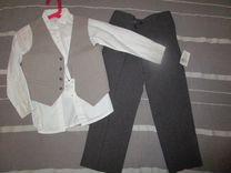 Брюки, рубашка и жилет р.110-116