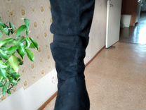 Замшевые сапоги — Одежда, обувь, аксессуары в Новосибирске