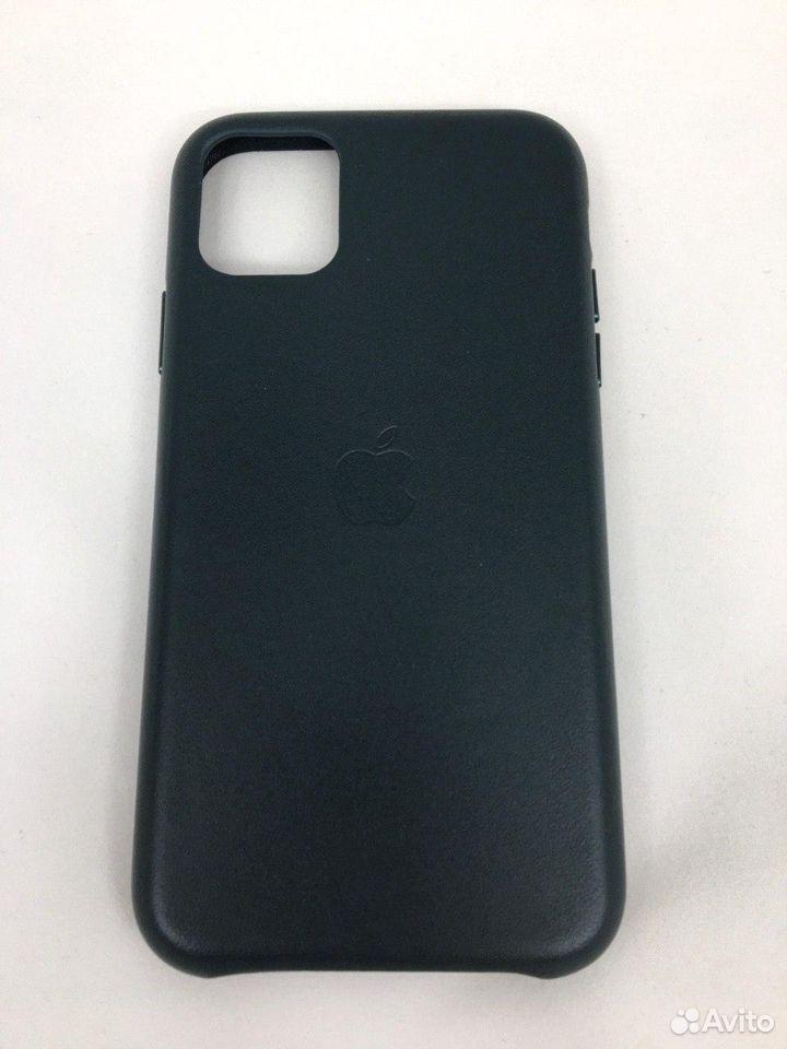 Кожаный чехол Leather Case Apple iPhone 11 Green  89112002770 купить 2