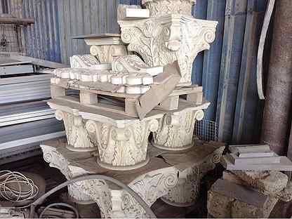 Капитель из натурального дагестанского камня
