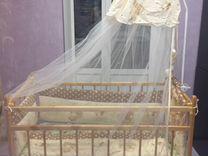 Кроватка детская + пружинный матрас + бортики + де
